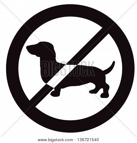 No Dogs allowed sign. Vector illustration for your cute design.