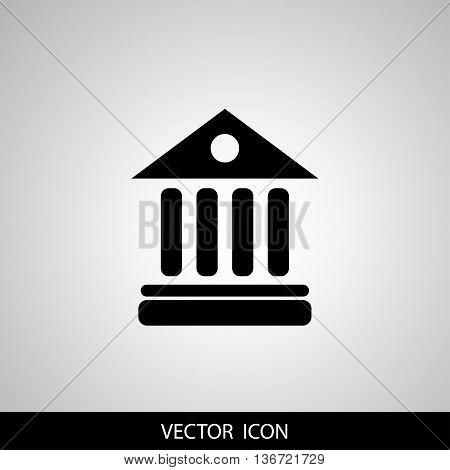 University Icon Isolated on gray Background. Vector illustration.