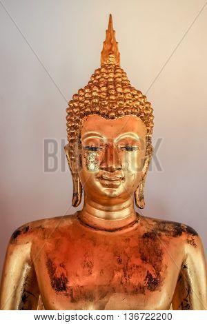 magnificent Buddha statue at Wat Pho (Temple) Bangkok Thailand