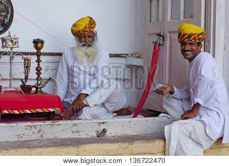 Local People In The Mehrangarh Fort In Jodhpur, India.