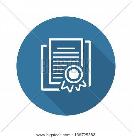 Security Certificates Icon. Flat Design Isolated Illustration. App Symbol or UI element.