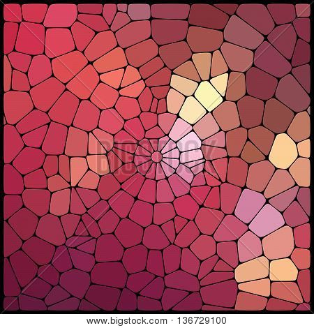 Abstract Colorful Mosaic Pattern. Abstract Background Consisting Of Elements Of Different Shapes Arr