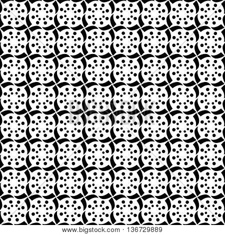 Geometric Stars Polka Dots Decorative Trendy Tribal Design Swirls and Circles Repeating Seamless Vector Pattern Background Design