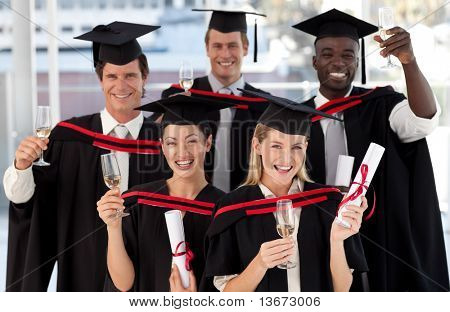 Group of people Graduating from College from different cultures