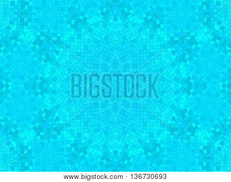 Bright blue wavy cell background with concentric pattern