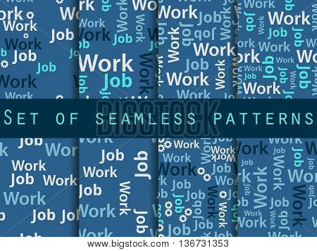 Words Seamless Pattern, Word Collage, Words Design. Seamless Pattern With Words. Association With Th