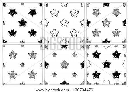 Scandinavian trend seamless patterns. Children's seamless vector patterns. Kid pattern. Vector seamless baby pattern. Stars pattern. Kids bed linen. Polish cotton American cotton Chinese cotton.