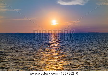Sunset over Seacoast, beautiful natural landscape background