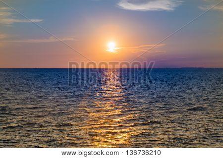 Sunset over Seacoast, beautiful natural landscape background