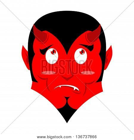 Satan Surprised. Discouragement Demon. Devil In Confusion. Pitifully Features. Perplexed Lucifer, Pr