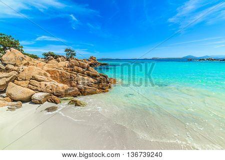 Capriccioli beach in Costa Smeralda in Sardinia