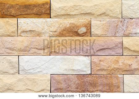 Brown Concrete Or Cement Modern Tile Wall Background And Texture..