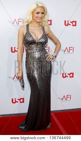 Holly Madison at the 36th AFI Life Achievement Award held at the Kodak Theater in Hollywood, USA on June 12, 2008.