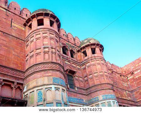 Agra Fort In Uttar Pradesh, India.