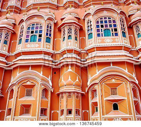 Hawa Mahal Palace (palace Of The Winds) In Jaipur, Rajasthan