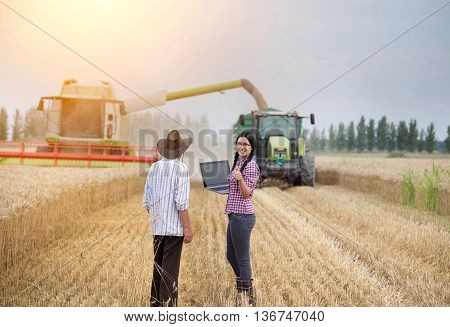 People At Harvest
