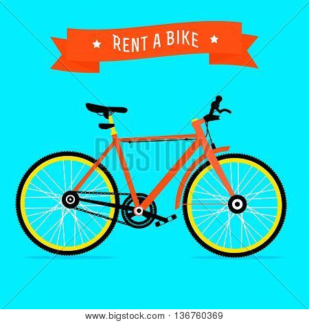 Bike Rental Service Vector