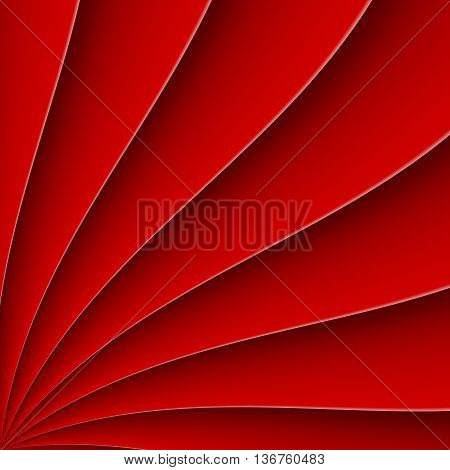 Red background in form far with bending line