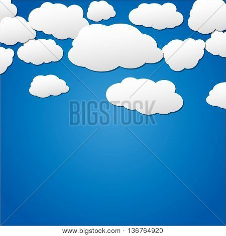 Illustration of clouds in the sky background