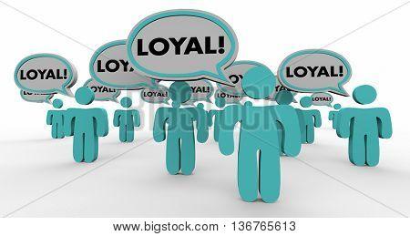 Loyal Return Customers Audience Speech Bubble People 3d Illustration