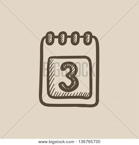 Calendar vector sketch icon isolated on background. Hand drawn Calendar icon. Calendar sketch icon for infographic, website or app.