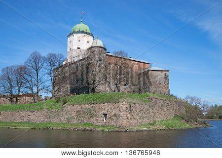 Vyborg castle the may sunny day. Leningrad region, Russia