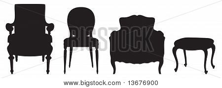 Set of seats. Vector