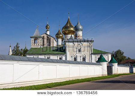 Ancient Orthodox Resurrection Monastery. Uglich. Russia. Summer.