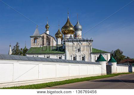Ancient Orthodox Resurrection Monastery. Uglich. Russia. Summer.
