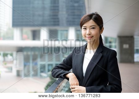 Asian business woman at outdoor