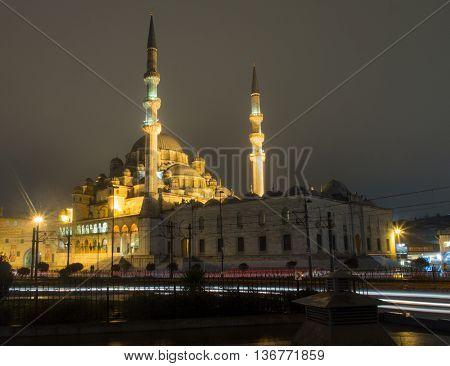 New Mosque And Galata Bridge
