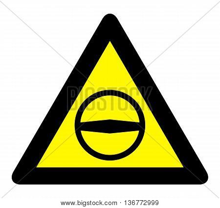 European student driver school sign. Yellow warning triangle sign, warns that there is a young driver in car.