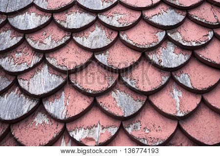 asian temple old red wooden roof texture