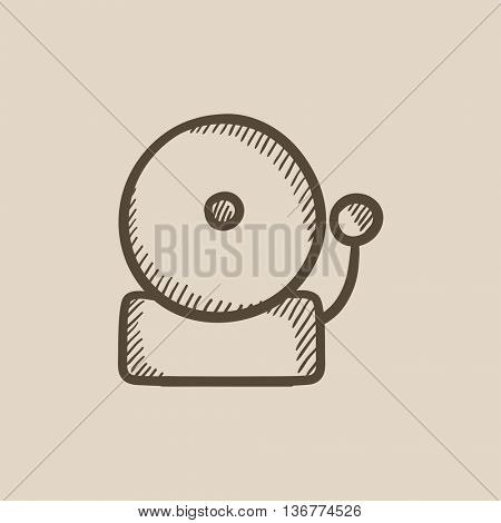 Fire alarm vector sketch icon isolated on background. Hand drawn Fire alarm icon. Fire alarm sketch icon for infographic, website or app.