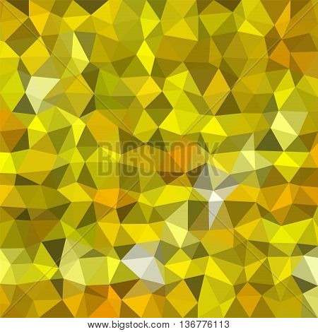 Abstract multicolor (dark and light gold) low-poly vector background
