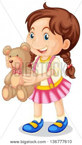 Child holding tidy bear