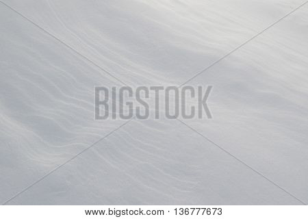 Snow Art: Close up of natural snow formations undisturbed by people and wildlife