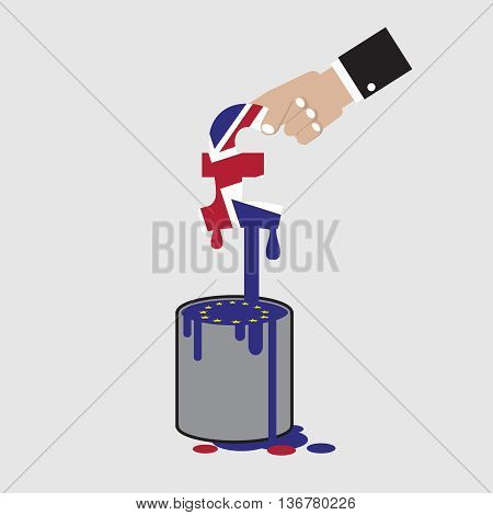 The British Pound Currency Sign Pick Out From Euro Can Vector Illustration. EPS 10