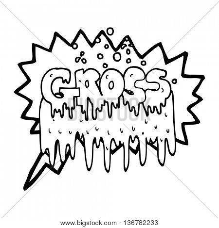 freehand drawn speech bubble cartoon gross symbol
