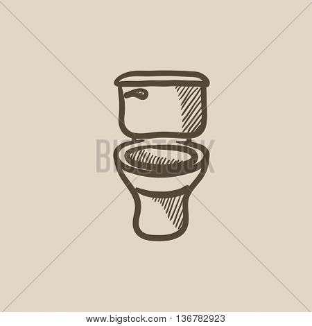 Lavatory bowl vector sketch icon isolated on background. Hand drawn Lavatory bowl icon. Lavatory bowl sketch icon for infographic, website or app.