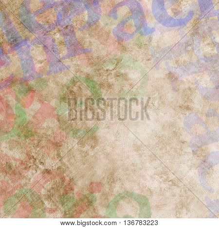 Abstract Multicolored Painted Background With Spots