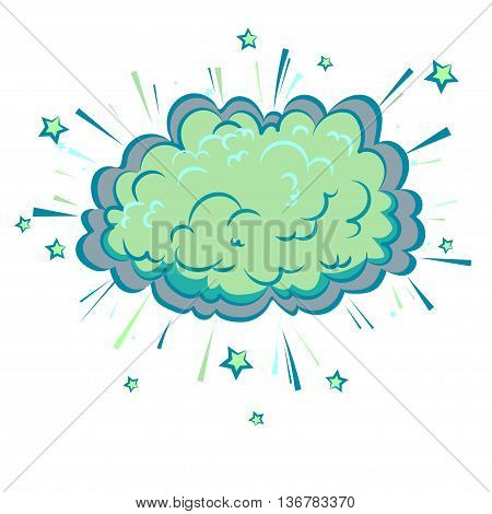 Boom cloud of Comic illustration, Pop Art style. Vector EPS