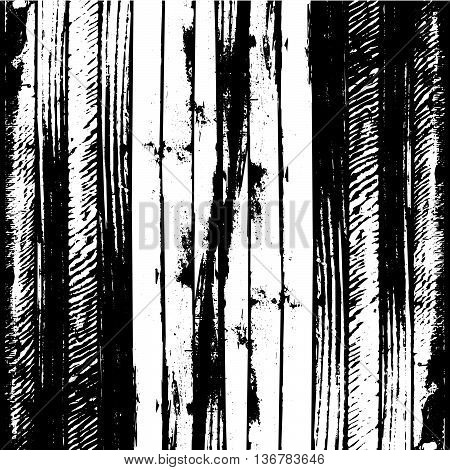 Traced black and white wood grain abstract baclkground vector illustration eps10