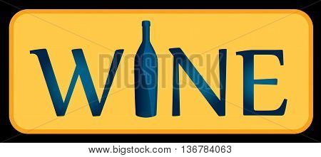 White wine. Logo. It can be used to design the menu, wine list, an invitation to a tasting for restaurant, bar, shop.