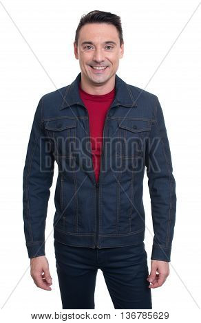 Trendy Handsome Young Man Isolated