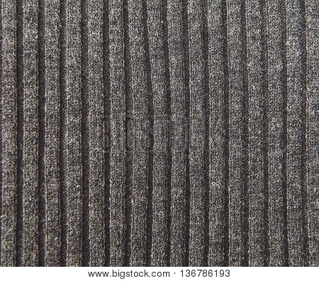 Grey Knitted Striped Background.Hand Made;Fancywork. Industry Stockinet