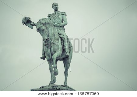 Luxembourg City - Luxembourg - July 01, 2016: Statue Of Grand Duke William Ii Of The Netherlands In