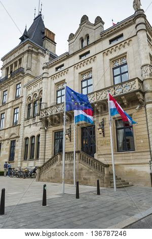 Luxembourg City, Luxembourg - July 01, 2016: Grand Ducal Palace In Luxembourg City