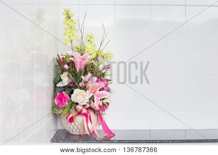 Artificial Flower In The Vase