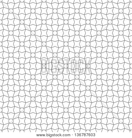 Seamless pattern. Vector abstract geometrical background. Modern stylish texture. Regularly repeating elegant ornament with rhombuses stars polygonal shapes.